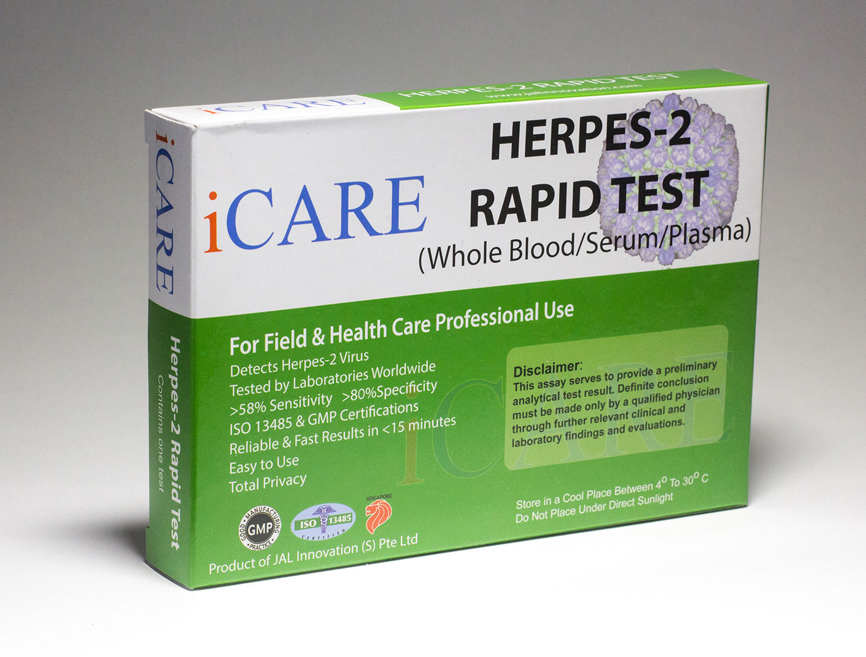 iCare Rapid Genital Herpes Test Kit (HSV-2) - STD Rapid Tests